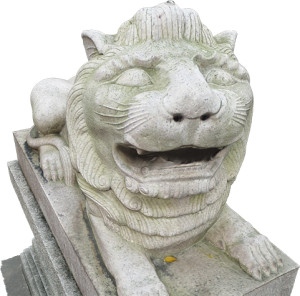 Chinese Lion at the Ching Chung temple (right side)