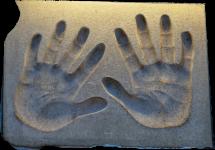 Jet Li hands print