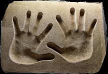 Sammo Hung hands print